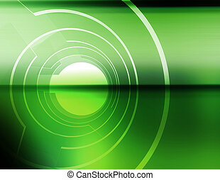 Aperture - Abstract, three dimensional apertures rotating on...