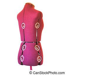 Dress maker's dummy 2 - Dress maker's dummy - isolated white...