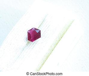red beryl emerald - A red beryl emerald.