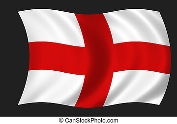 English flag - waving flag of England - english flag