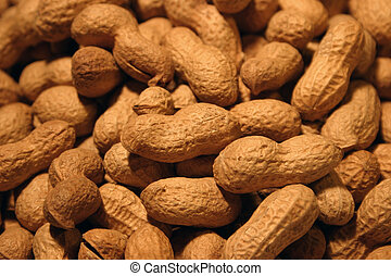 Peanuts background 1 - Homogeneous peanuts texture - closer...