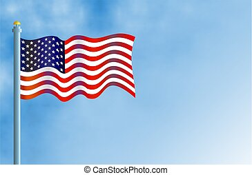 American Flag - Flying the flag of the USA.