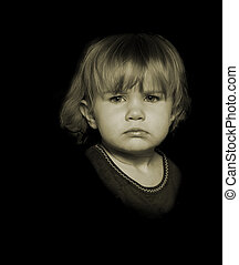 Attitude! - Portrait of a Young Angry Child
