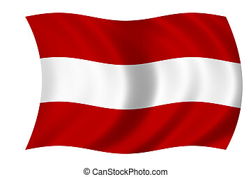 flag of austria - Waving flag of austria