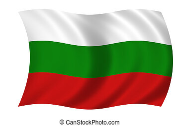 flag of Bulgaria - Waving flag of Bulgaria