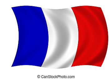 french flag - waving french flag