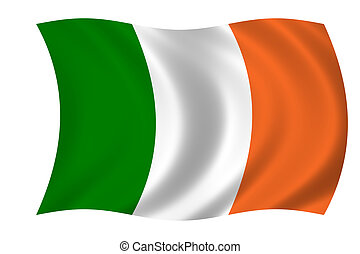flag of Ireland - Waving flag of Ireland
