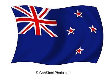 flag of new zealand - waving flag of new zealand
