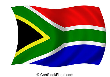 flag of south afric - waving flag of south africa