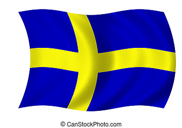 flag of Sweden - Waving flag of Sweden