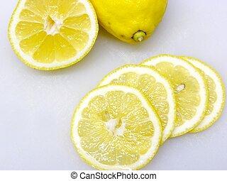 lemons - lemon slices shallow dof