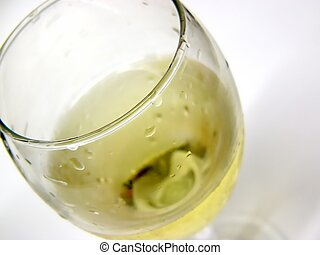 white wine - partial white wine glass