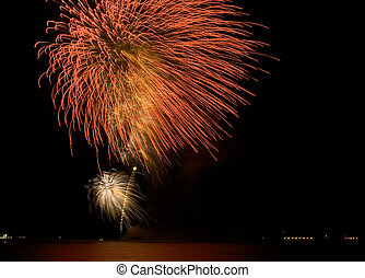 Eid fireworks - Eid festival fireworks in Qatar