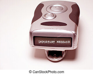 Pager Message 1 - Pager with message, rose tint
