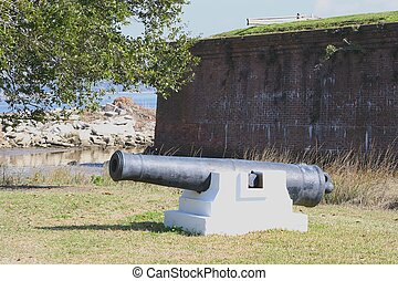 Old Canon 2 - An old canon standing sentry duty at an old...