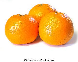 Mandarin Oranges - three Mandarin oranges