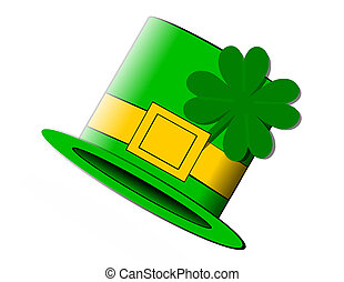 St. Patty's Hat - St. Patrick's Day Hat with 4 leaf clover