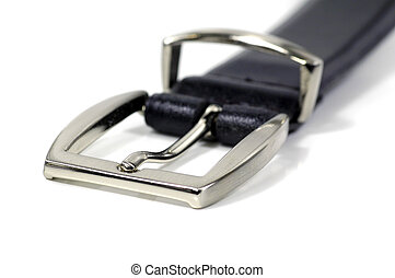 Belt Buckle - Black Leather Belt and Buckle