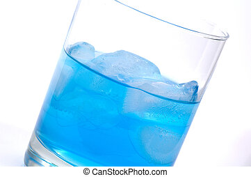 Drink 2 - Glass With Ice and Blue Liquid
