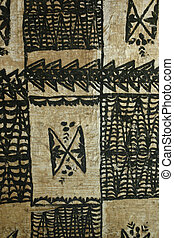 tapa cloth - background pattern of hawaiian tapa