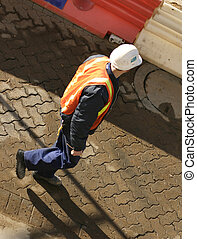 Construction Worker - Workman in the morning