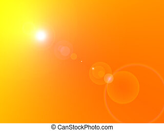 Sun Flare - Bright sunlight with yelow and orange background