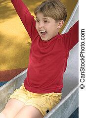 Slides of fun - Shreiks and shrills on the slippery slide...