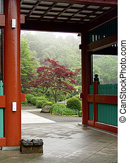 Japanese garden - Entrance to the Japanese garden in Tokyo