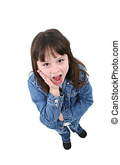 Child with Surprised Expression - Adorable seven year old...
