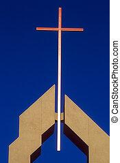 Copper Cross - Copper cross on a church in Phoenix, AZ