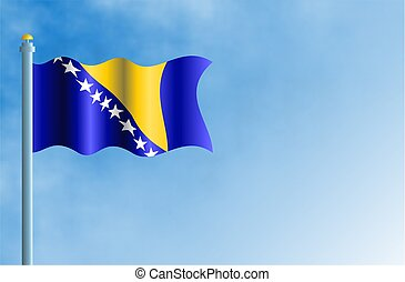 Bosnia Herzegovina - National flag of Bosnia and Herzegovina...