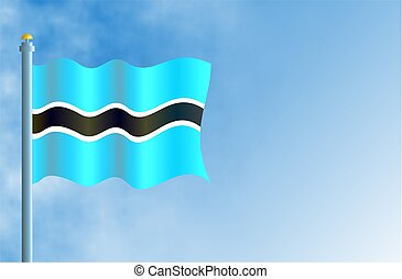 Botswana - National flag of Botswana with space for text.
