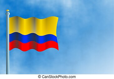 Colombia - National flag of Colombia.
