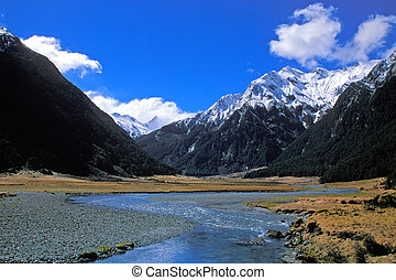 Siberian Valley in South-island New Zealand