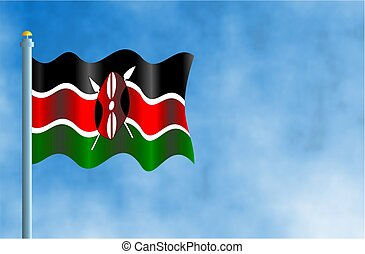 Kenya - National flag of Kenya.