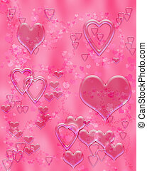 Valentine's Hearts - pink liquid heart illustration
