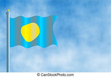 Palau - National flag of Palau.