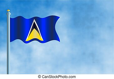 Saint Lucia - National flag of Saint Lucia.