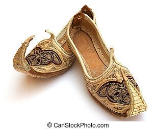 Arabian shoes - A pair of fairytale Arabian shoes.