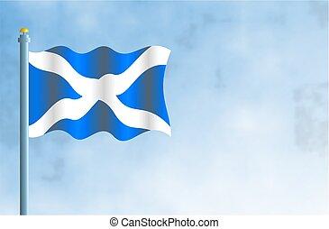 Scotland - National flag of Scotland