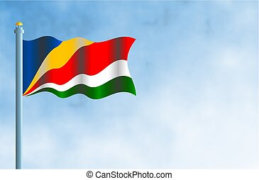 Seychelles - National flag of the Seychelles