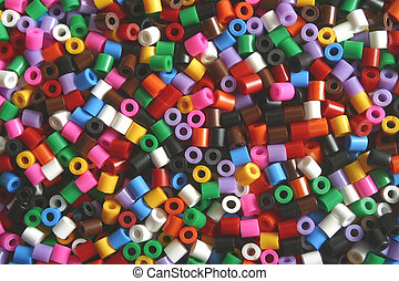 pony beads - Pony beads used for arts and crafts.