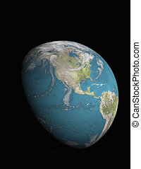 North America with 3/4 illuminated Earth - North America as...