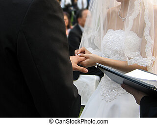 Wedding - exchanging wedding rings