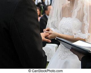 Wedding - exchanging wedding rings