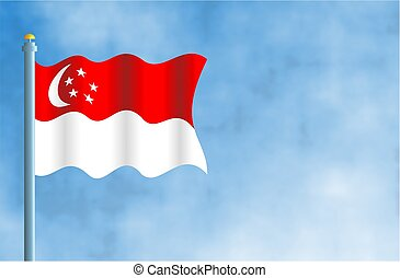 Singapore - National flag of Singapore
