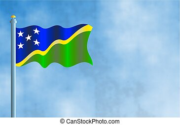 Solomon Islands - National flag of the Solomon Islands.