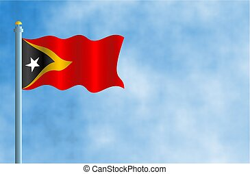 Timor Leste - National flag of Timor Leste.