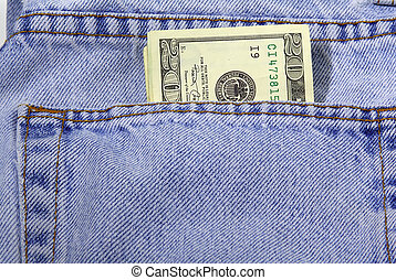 Pocket Money - Mney in Pants Pocket