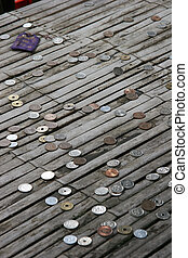 Japanese Coins - Japanese coins on a bamboo table Donated...